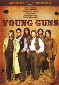 Young Guns DVD starring Emilio Estevez and Kiefer Sutherland